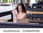 waist up portrait of charming... | Shutterstock . vector #1140649430