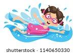 vector illustration of kid... | Shutterstock .eps vector #1140650330