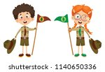 vector illustration of a scout... | Shutterstock .eps vector #1140650336