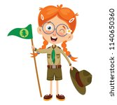 vector illustration of a scout... | Shutterstock .eps vector #1140650360