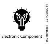 a light bulb with network nodes ... | Shutterstock .eps vector #1140650759