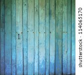 Old Dirty Wooden Wall Blue