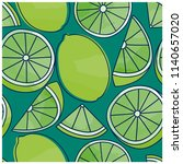 lime seamless pattern. summer... | Shutterstock .eps vector #1140657020