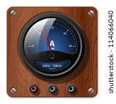 ammeter icon on the wooden plate | Shutterstock . vector #114066040