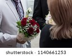chic and bright festive bouquet ... | Shutterstock . vector #1140661253