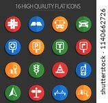 road vector icons for web and... | Shutterstock .eps vector #1140662726