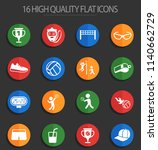volleyball vector icons for web ... | Shutterstock .eps vector #1140662729