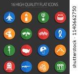 veterans day vector icons for... | Shutterstock .eps vector #1140662750