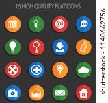 user interface vector icons for ... | Shutterstock .eps vector #1140662756