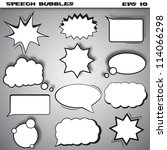 speech and thought bubbles... | Shutterstock .eps vector #114066298