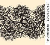 abstract lace ribbon seamless... | Shutterstock .eps vector #1140664763