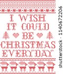 i wish it could be christmas... | Shutterstock .eps vector #1140672206