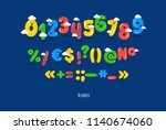 these are funny numbers ... | Shutterstock .eps vector #1140674060