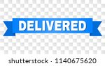 delivered text on a ribbon.... | Shutterstock .eps vector #1140675620