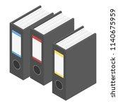 file folder icon. isometric of... | Shutterstock .eps vector #1140675959
