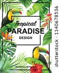 tropical hawaiian design with... | Shutterstock .eps vector #1140678536
