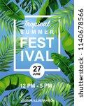 tropical hawaiian festival... | Shutterstock .eps vector #1140678566