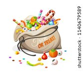 bag of  olorful halloween... | Shutterstock .eps vector #1140679589