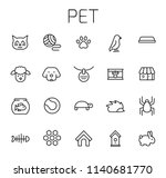 pet related vector icon set.... | Shutterstock .eps vector #1140681770