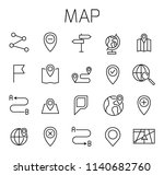 map related vector icon set.... | Shutterstock .eps vector #1140682760