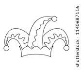 humor hat bell icon. outline... | Shutterstock .eps vector #1140687116