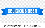 delicious beer text on a ribbon.... | Shutterstock .eps vector #1140688580