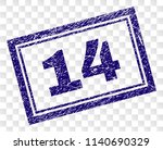 14 stamp seal imprint with... | Shutterstock .eps vector #1140690329