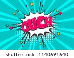 omg ouch oops comic text speech ...   Shutterstock .eps vector #1140691640