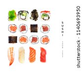 Pattern With Sushi. Food...