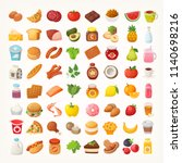 big number of foods from... | Shutterstock .eps vector #1140698216