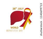 world hepatitis day 28 july...   Shutterstock .eps vector #1140699713