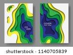 vector paper cut layouts design ... | Shutterstock .eps vector #1140705839