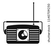radio receiver icon. simple... | Shutterstock .eps vector #1140709250