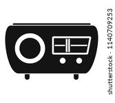 tuned radio icon. simple... | Shutterstock .eps vector #1140709253