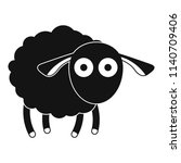 shocked sheep icon. simple... | Shutterstock .eps vector #1140709406
