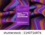 distortion of stripes. modern... | Shutterstock .eps vector #1140716876