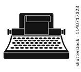 retro typewriter icon. simple... | Shutterstock .eps vector #1140717323