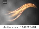 abstract gold wavy line of... | Shutterstock .eps vector #1140723440