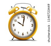 realistic shiny yellow alarm... | Shutterstock .eps vector #1140723449