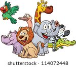 Cartoon Safari Animals. Vector...