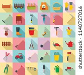 farming equipment garden icons... | Shutterstock .eps vector #1140727016