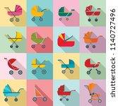 pram stroller carriage cradle...   Shutterstock .eps vector #1140727496