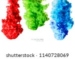 colorful inks in water isolated ... | Shutterstock . vector #1140728069