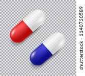 set of red and blue vector... | Shutterstock .eps vector #1140730589