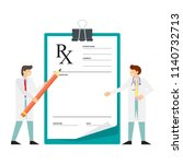 miniature doctor stands near... | Shutterstock .eps vector #1140732713
