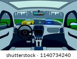 view of the road from the car...   Shutterstock . vector #1140734240