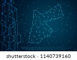 abstract mesh line and point...   Shutterstock .eps vector #1140739160