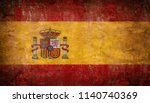 old grunge spain flag | Shutterstock . vector #1140740369