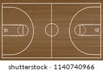 basketball court floor on... | Shutterstock .eps vector #1140740966