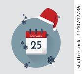 vector illustration. christmas... | Shutterstock .eps vector #1140742736